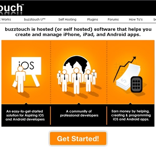 buzztouch.com needs a new landing page