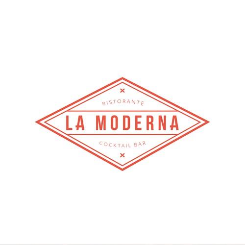 Retro/modern logo concept for pizzeria.