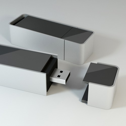 Create a Stylish Industrial Design For USB Drive
