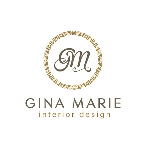 high-end logo for Gina Marie Interior Design.