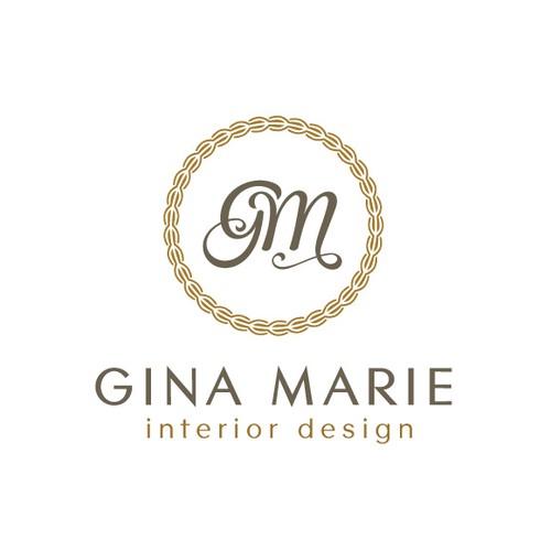 high-end logo for Gina Marie Interior Design.
