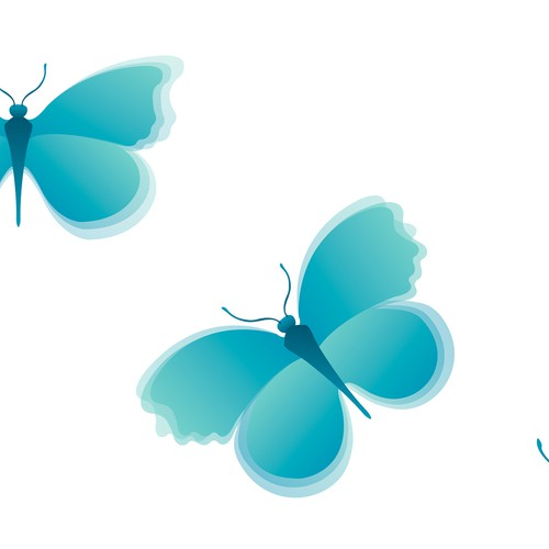 Inspirational butterflies illustration