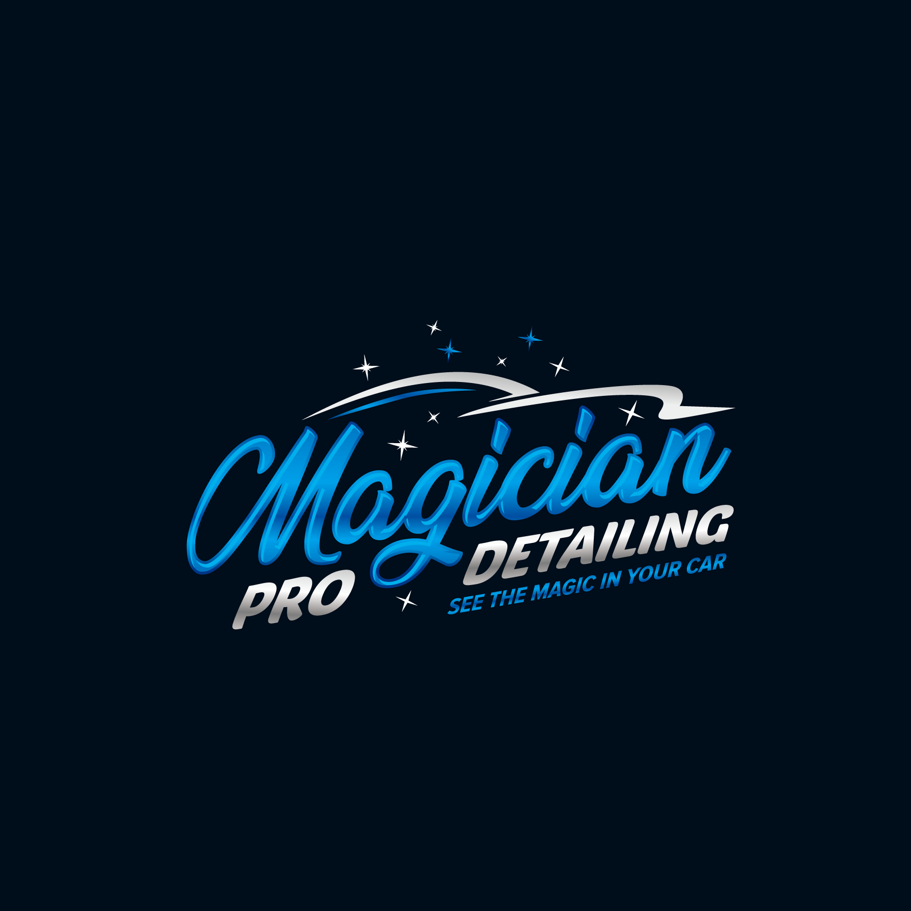 Logo for a professional certified car detailer.