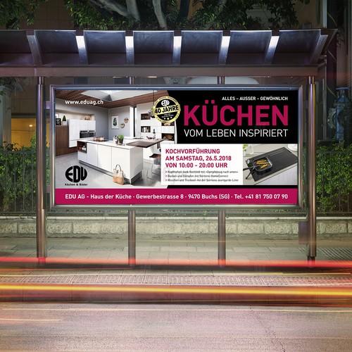 Plakat für Küchenstudio