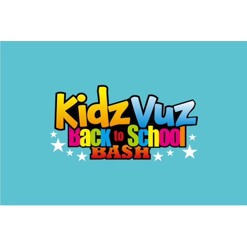 Create a super fun and cool event logo for KidzVuz!