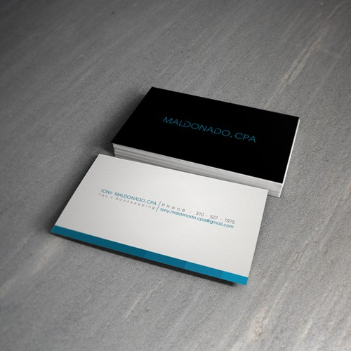 Young CPA need modern/professional business card to attract clients