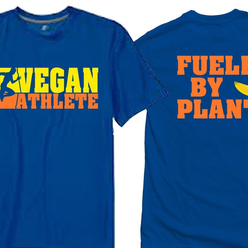 GUARANTEED PRIZE! Vegan Athlete t-shirt design