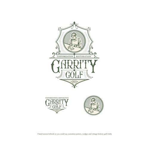 Vintage style logo design for Garrity Golf