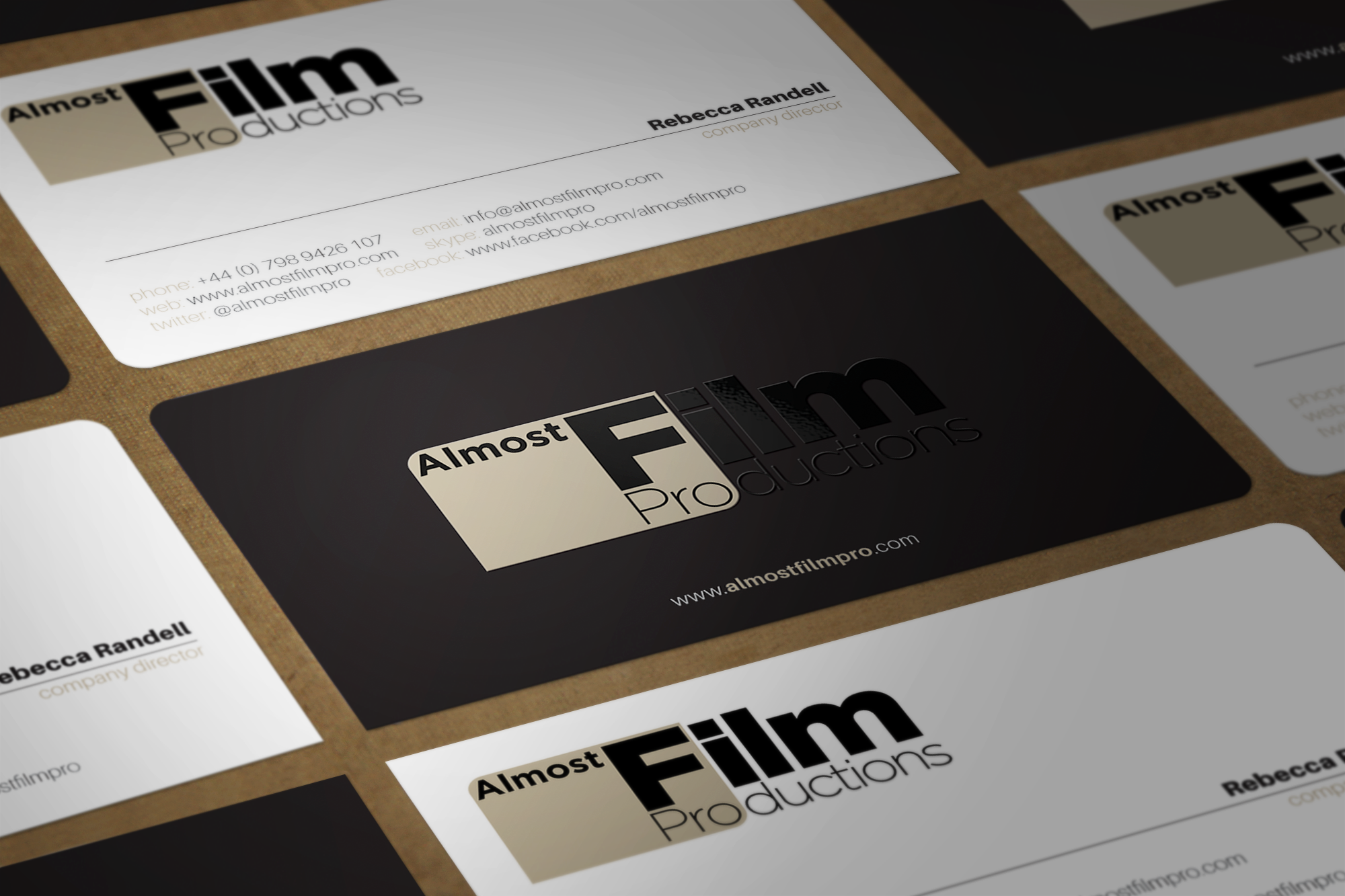 Help us create a good looking business card for an independent film company.