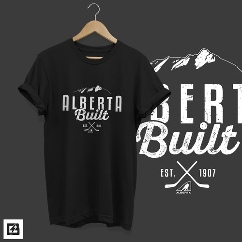 T-shirt design for Alberta Built