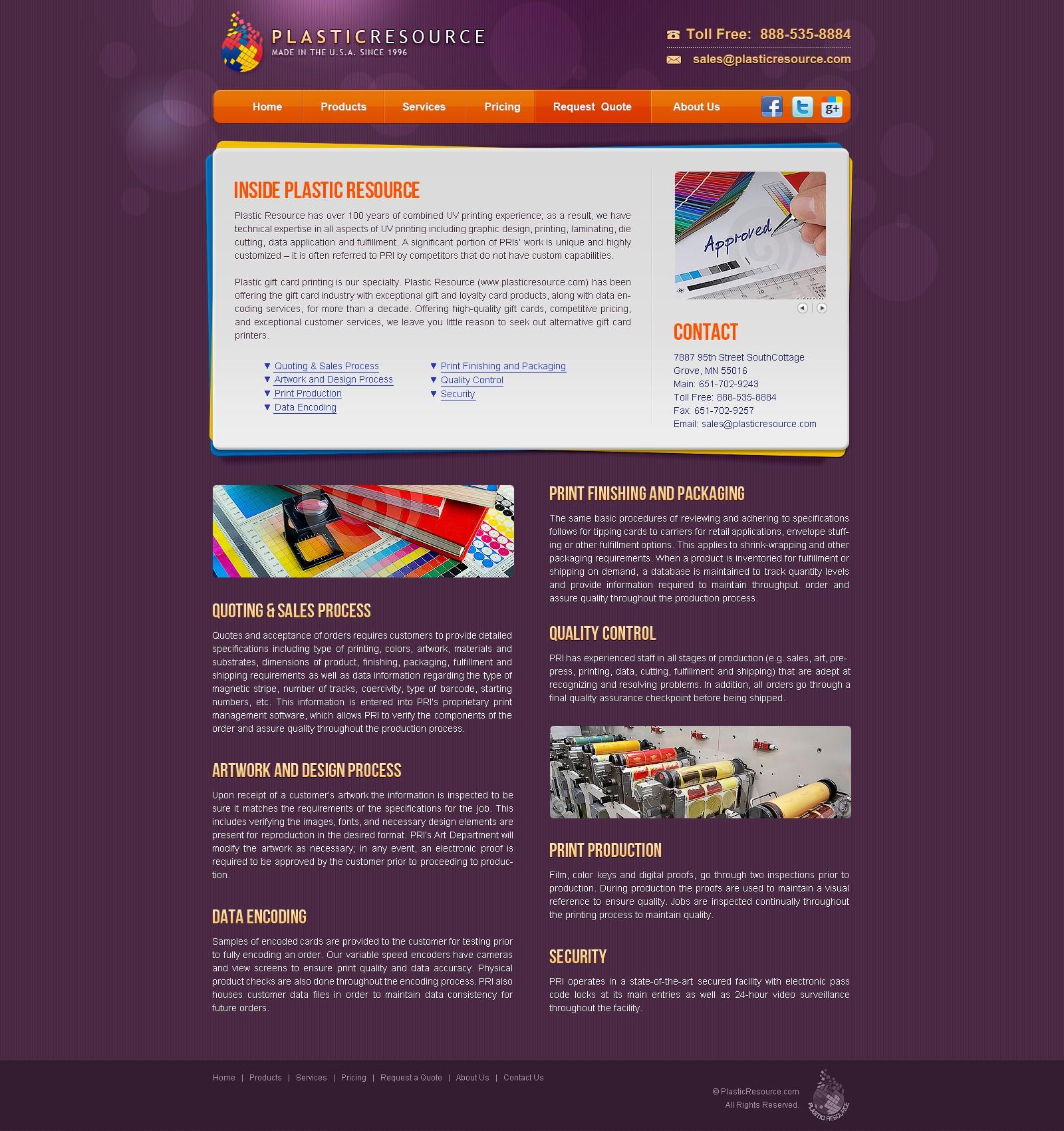 Plastic Resource needs a new website design