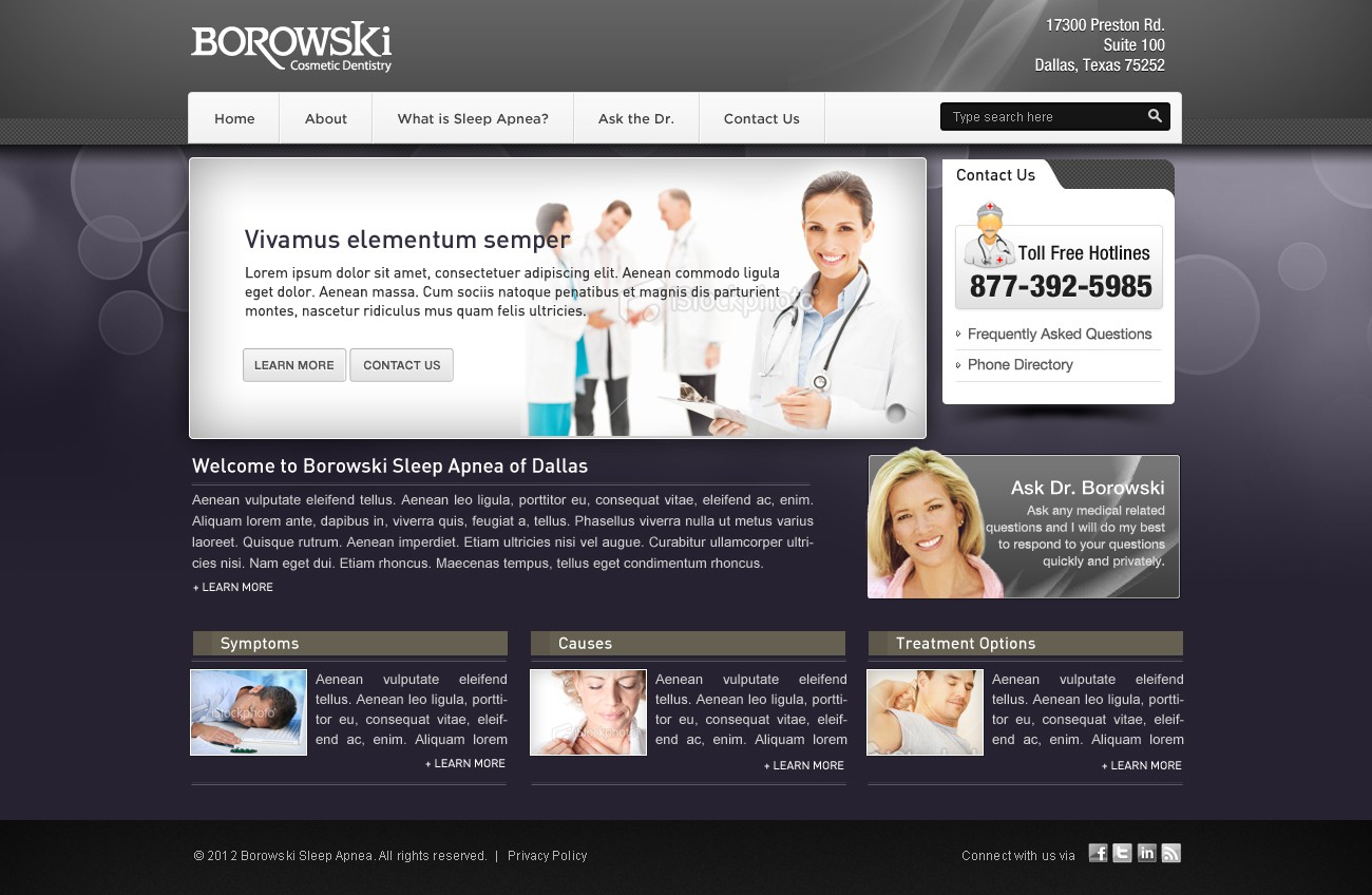 Help Borowski Sleep Apnea  with a new website design