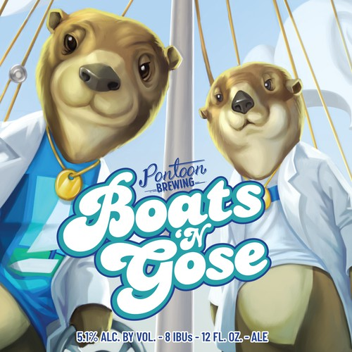 Boats and Gose beer label