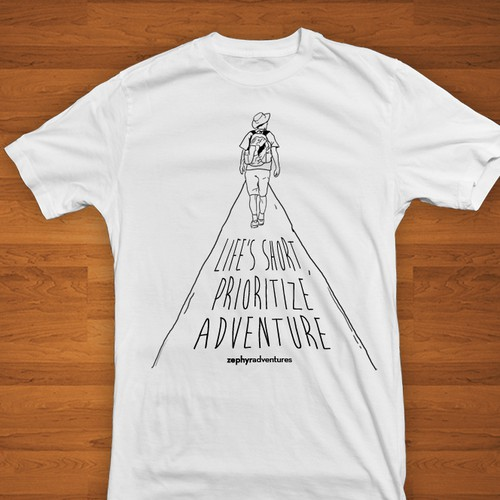 Design a T-shirt for an adventure travel company!