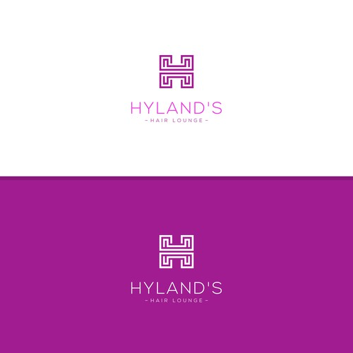 Logo for a hair lounge