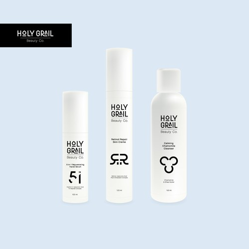 Logo and package for cosmetics brand