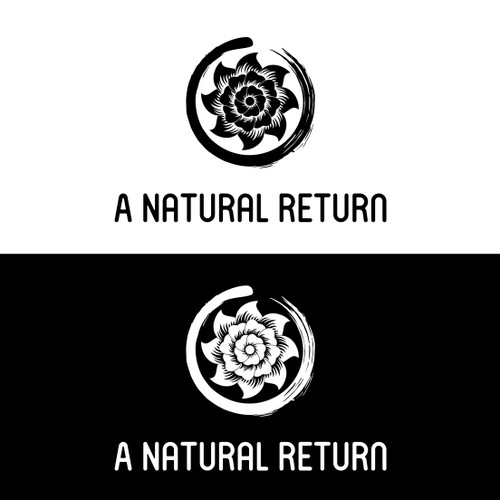 flower and enzo circle concept for 'a natural return'