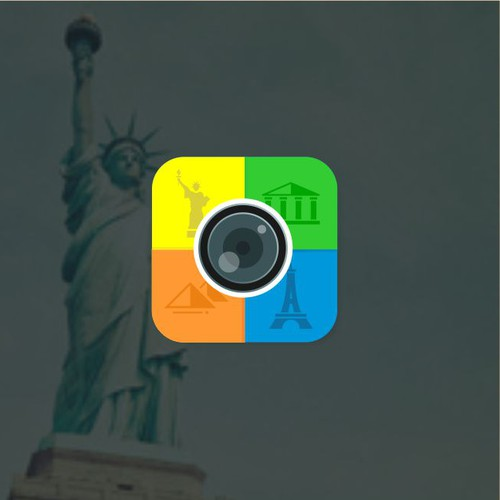 Iconic Base Apps Icon for Landmark Lens