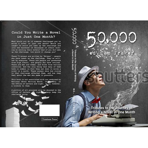 Finalist book cover design for a book of essays