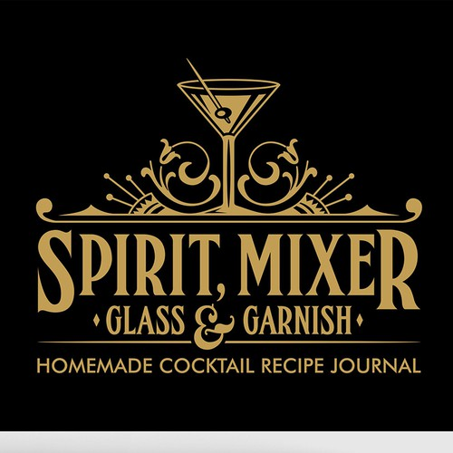 Spirit, Mixer Glass & Garnish