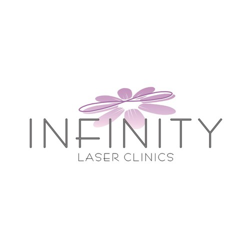 sleek elegant logo with infinity symbol