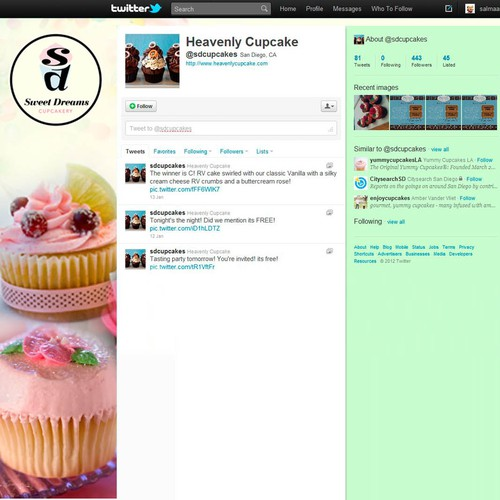 twitter theme design