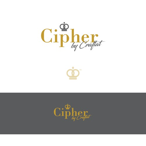 Cipher by Craftat logo design concept