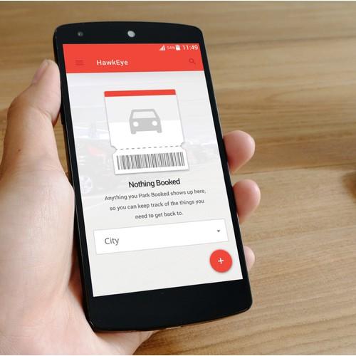 UI Design for Parking Ticket App