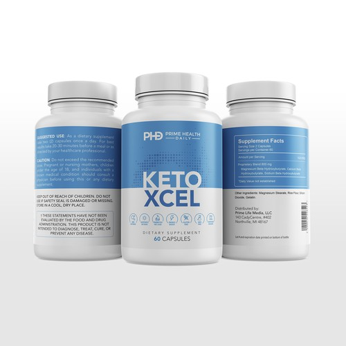 Label design for Keto Xcel