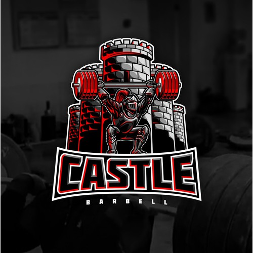 Knight and Castle Logo for Weightlifting Gym