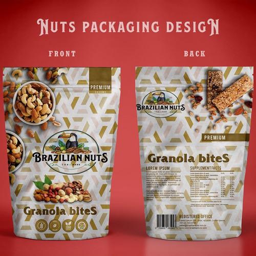 Nuts Packaging design