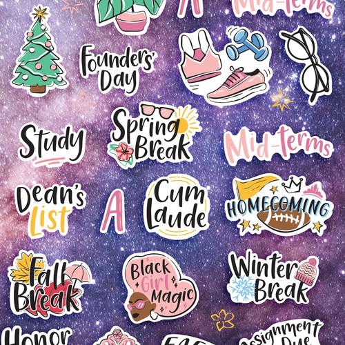 Academic Planner sticker sheet