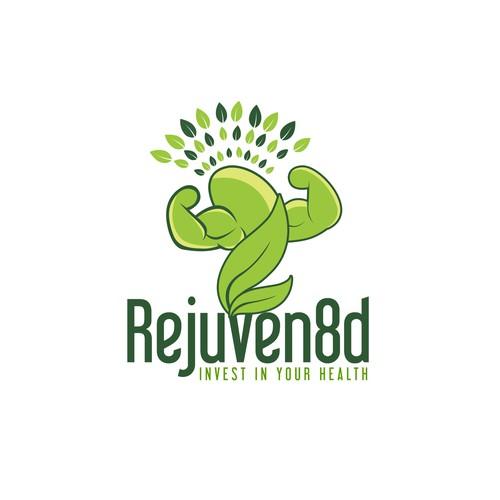 Rejuven8d Fitness Logo Design