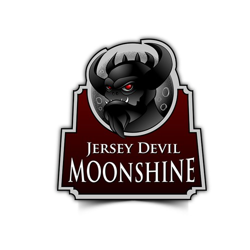 Creat the label for Jersey Devil Moonshine