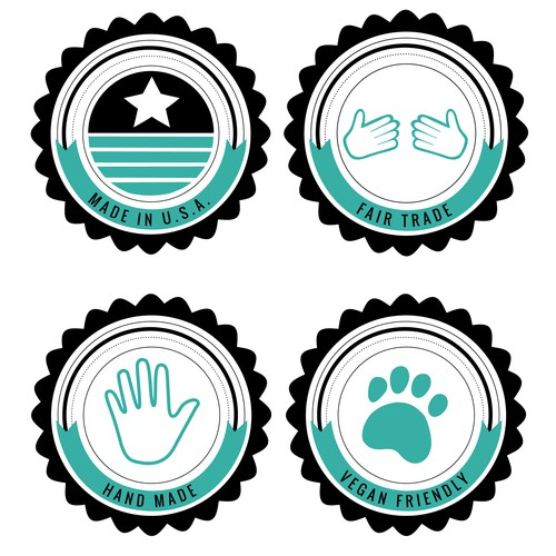 Icon Badge Concepts (soft tosca)