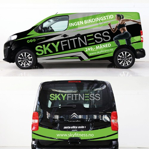 Fitness/Gym van wrap design