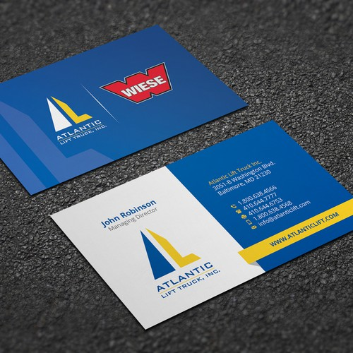 Business Card Design for Atlantic Lift