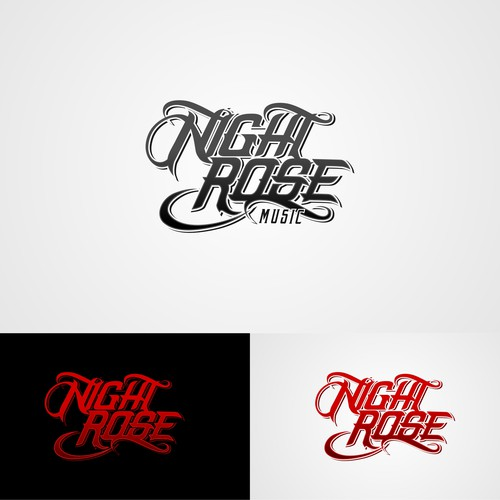 Logo Concept for Night Rose Music