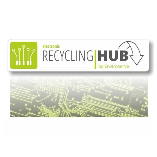 Recycling logo - especially for technical trash