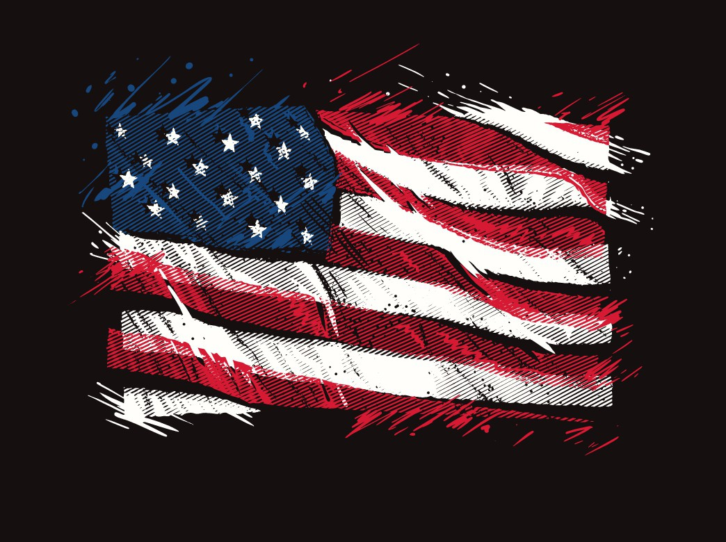 Bad Ass Patriotic Flag