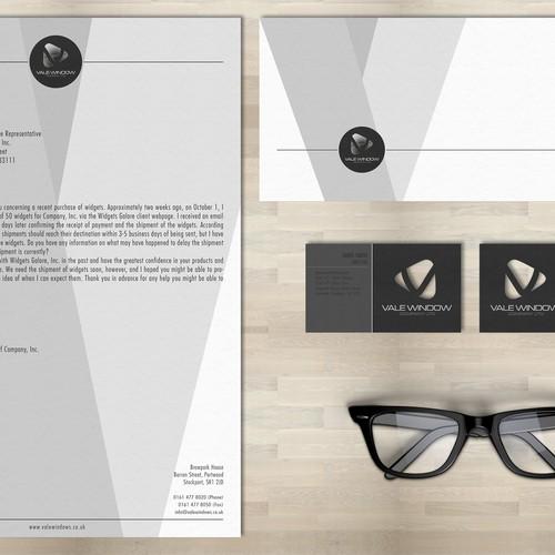 Vale Window Company Ltd Bus. Card/letterhead design