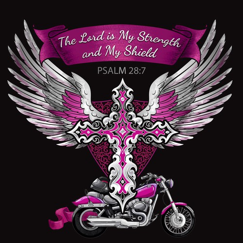 T-shirt design for Christian Bikers