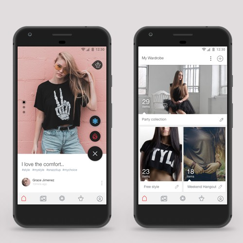 UI design for fashion platform