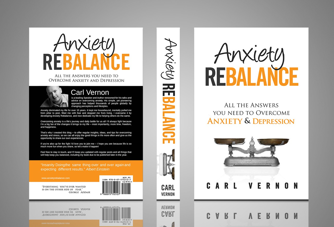 Create a book cover for the next best-selling book on Overcoming Anxiety and Depression!