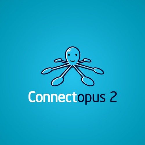 Fun Logo Character for Connectopus 2
