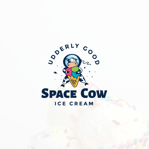 Logo concept for a store that sells ice cream