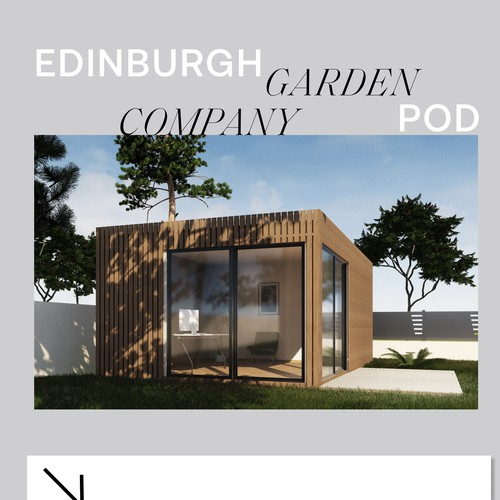 Landing Page design for a Garden Pod Company
