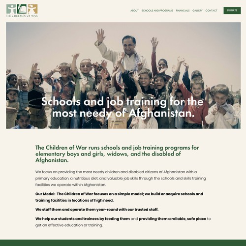 NGO Children of War Website