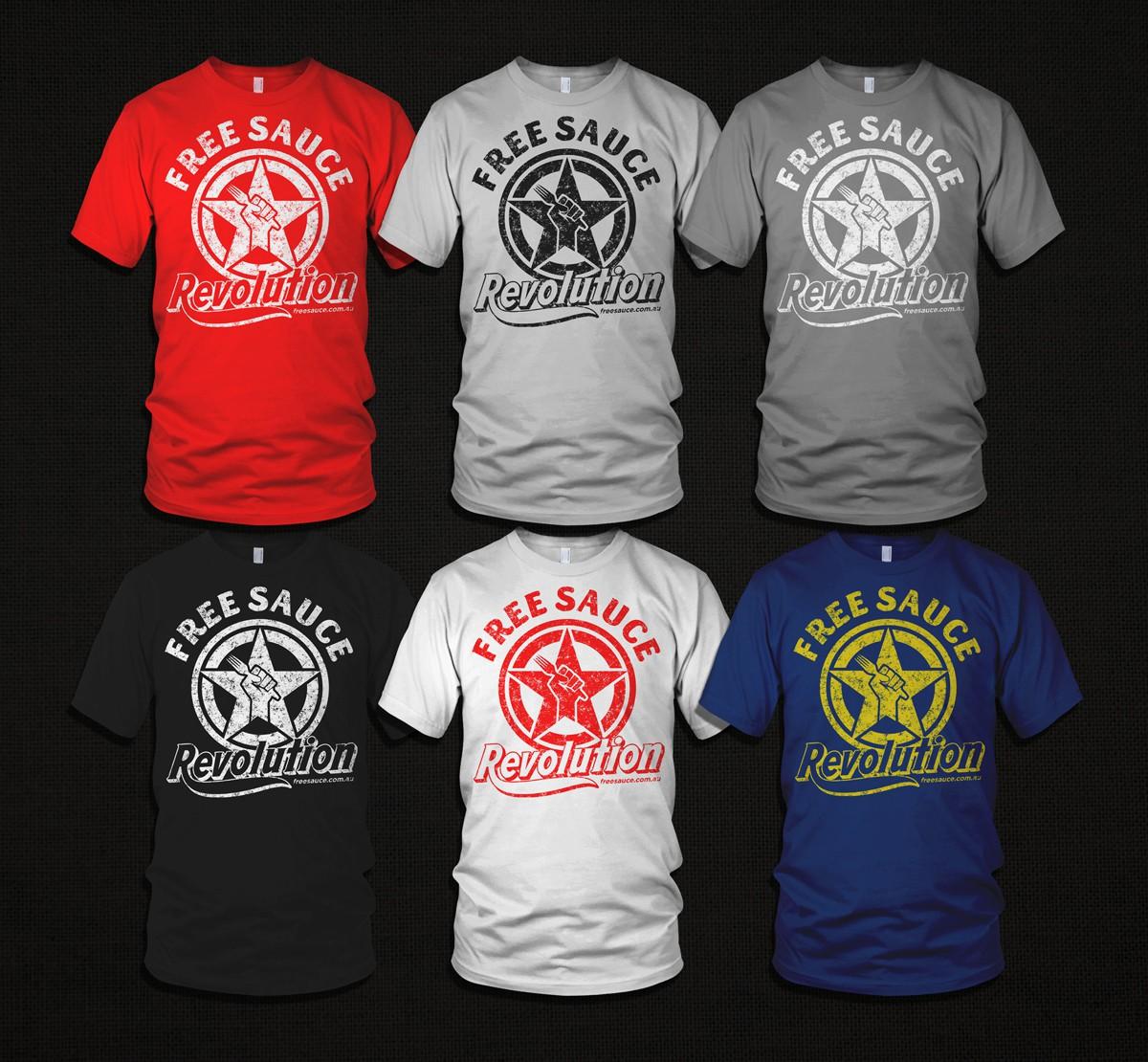 1st EVER Promo T-shirt for FreeSauce.com.au
