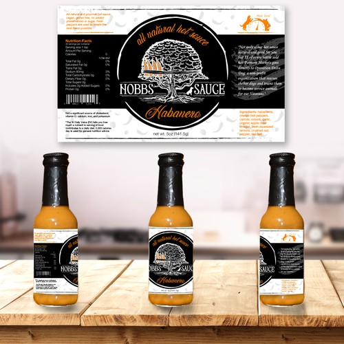 Label for Habanero souce